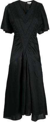 Etoile Isabel Marant Toya embroidered midi dress