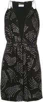 Saint Laurent printed sleeveless plunge dress