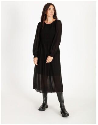 Piper Shirred Midi Dress