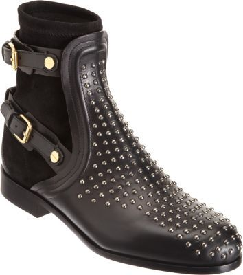 Chloé Studded Combo Ankle Boot