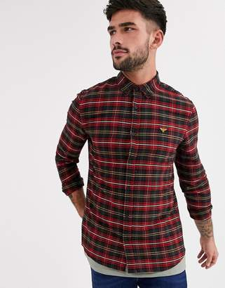 New Look shirt in red plaid check