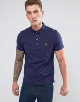 Lyle & Scott Woven Collar Polo Shirt Navy