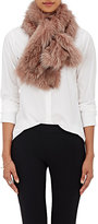 Barneys New York Women's Fox Fur Pull-Through Scarf-PINK