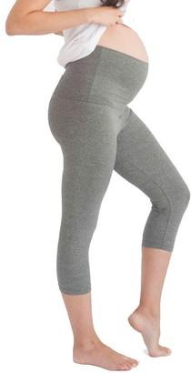 Belabumbum Women's Maternity Cropped and After Workout Capri Legging