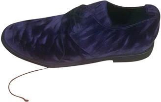 Ann Demeulemeester Purple Velvet Flats
