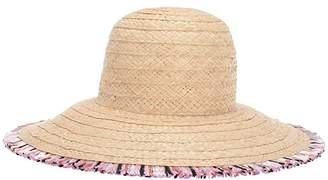 Kate Spade Multicolor Fringe Hat (Natural) Dress Hats