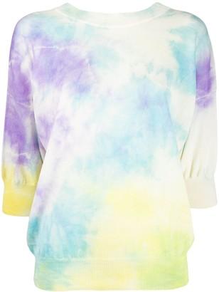 MSGM tie-dye print jumper
