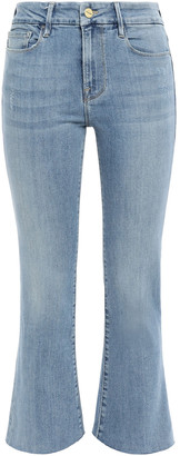Frame Le Crop Mini Boot Faded High-rise Kick-flare Jeans