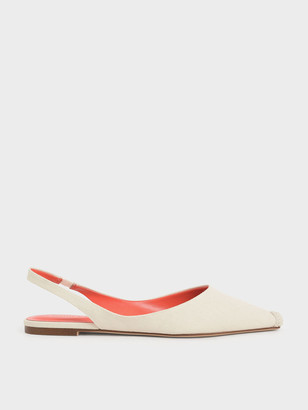 Charles & Keith Espadrille Toe Cap Slingback Flats