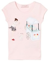 Lili Gaufrette Pale Pink Girl and Ice Cream Print Tee