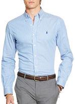 Polo Big And Tall Long Sleeve Stripe Cotton Shirt