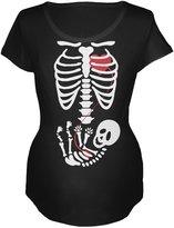 Old Glory Halloween Baby Skeleton Maternity Soft T-Shirt - 2X-Large