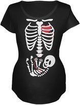 Old Glory Halloween Baby Skeleton Maternity Soft T-Shirt