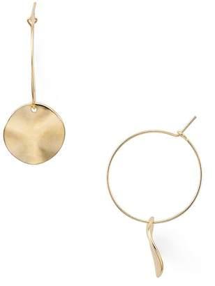 Aqua Disc Hoop Earrings - 100% Exclusive