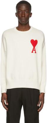 Ami Alexandre Mattiussi Off-White Ami De Coeur Crewneck Sweater