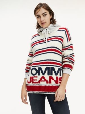 Tommy Hilfiger Mixed Stripe Oversized Fit Jumper