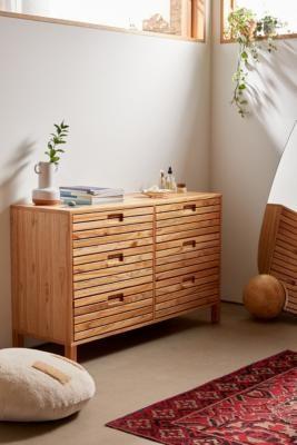 Urban Outfitters Lita 6-Drawer Dresser - Beige ALL at