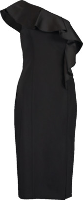 Michael Kors One Shoulder Ruffle Sheath Back Dress