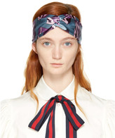 Gucci Blue & Purple GG Cube Headband