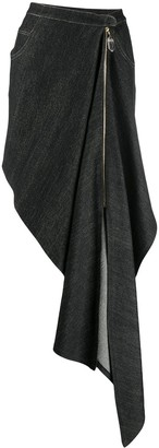 Atu Body Couture Draped Denim Skirt