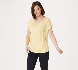 Laurie Felt Knit Rayon Made From Bamboo Blend V-Neck Crossover Top