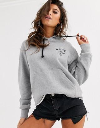 RVCA Rosie beach hoodie in grey