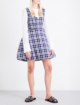 Natasha Zinko Tulip-skirt check-print cotton dress