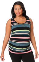 Motherhood Plus Size Sleeveless Scoop Neck Maternity Cami