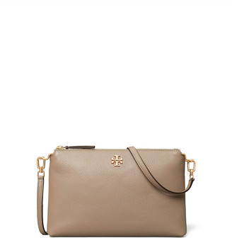 Tory Burch Kira Pebbled Leather Top-Zip Crossbody Bag