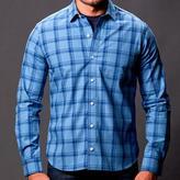 Blade + Blue Tonal Blue Windowpane Check Shirt - Nate