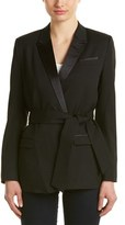 The Kooples Tie-waist Wool-blend Blazer.