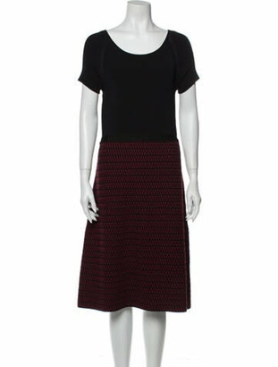Oscar de la Renta 2016 Midi Length Dress Wool