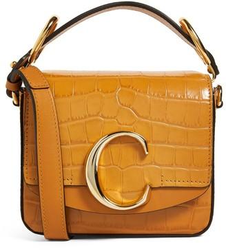 Chloé Mini Croc-Embossed Leather C Bag