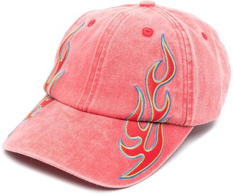 Études Flame-Print Cotton Baseball Cap