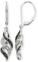 Black Diamond FINE JEWELRY 1/10 CT. T.W. White & Color-Enhanced Swirl Earrings