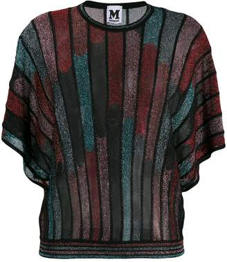 M Missoni knitted batwing sleeves top