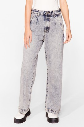Nasty Gal Womens Acid Wash What Happens Relaxed Jeans - Blue - 6, Blue