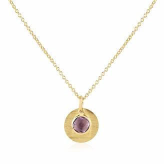 Auree Jewellery Bali 9Ct Gold February Birthstone Necklace Amethyst