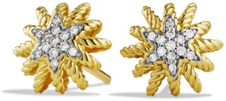 David Yurman Starburst Mini Earrings with Diamonds in Gold
