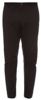 Lanvin Zip-cuff Cotton-gabardine Biker Trousers