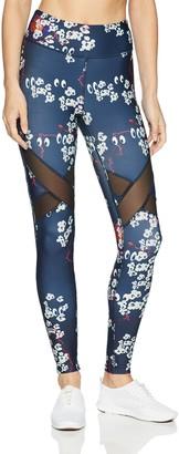Rowley Fitness Women's Mesh Insert Legging