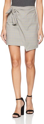 The Fifth Label Women's Picnic Check Overlay Mini Skirt with Bow