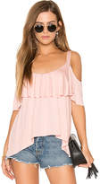 Ella Moss Bella Cold Shoulder Top in Pink. - size L (also in M,S,XS)