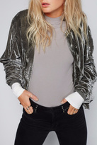 Free People Velvet Bomber Jacket