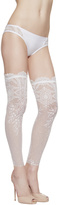 NEOPRENE DESIRE Footless over-the-knee stockings