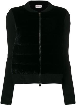 Moncler Velvet Front Knitted Jacket