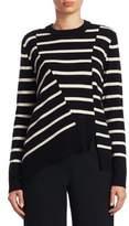 Proenza Schouler Asymmetric Striped Pullover