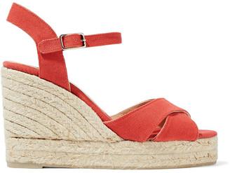 Castaner Blaudell Canvas Wedge Espadrille Sandals