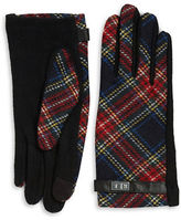 Lauren Ralph Lauren Wool-Blend Plaid Touch Gloves