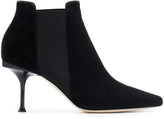 Sergio Rossi suede stiletto heeled boots